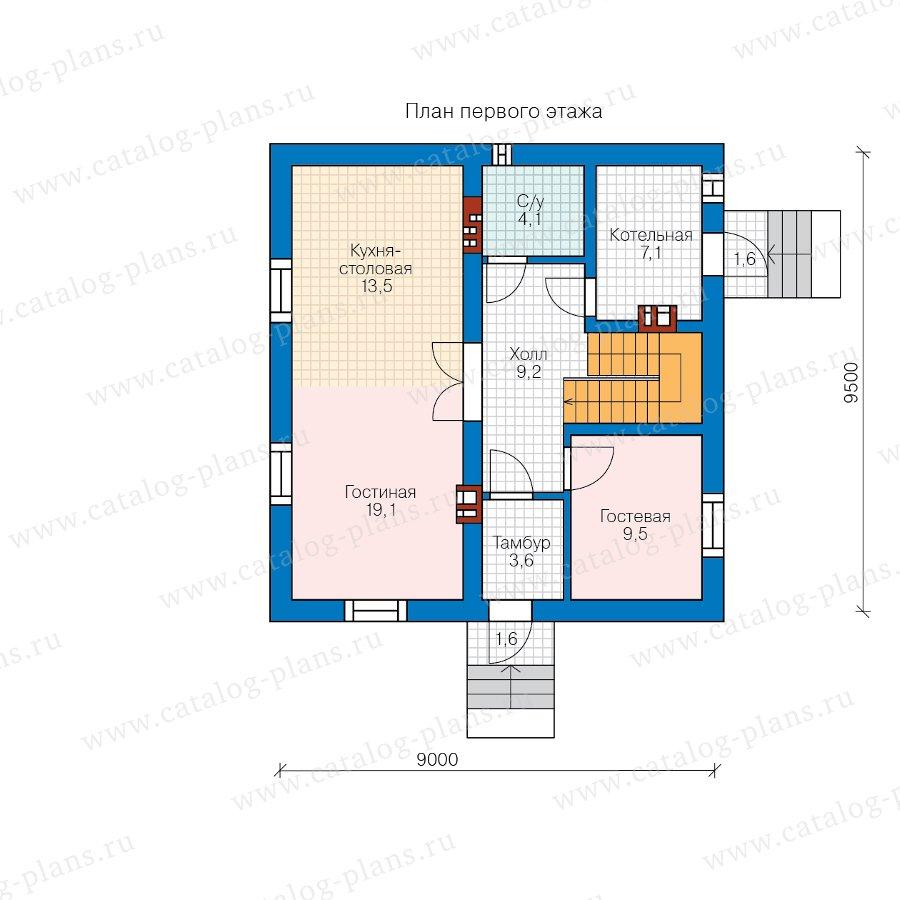План 1-этажа проекта 40-04D