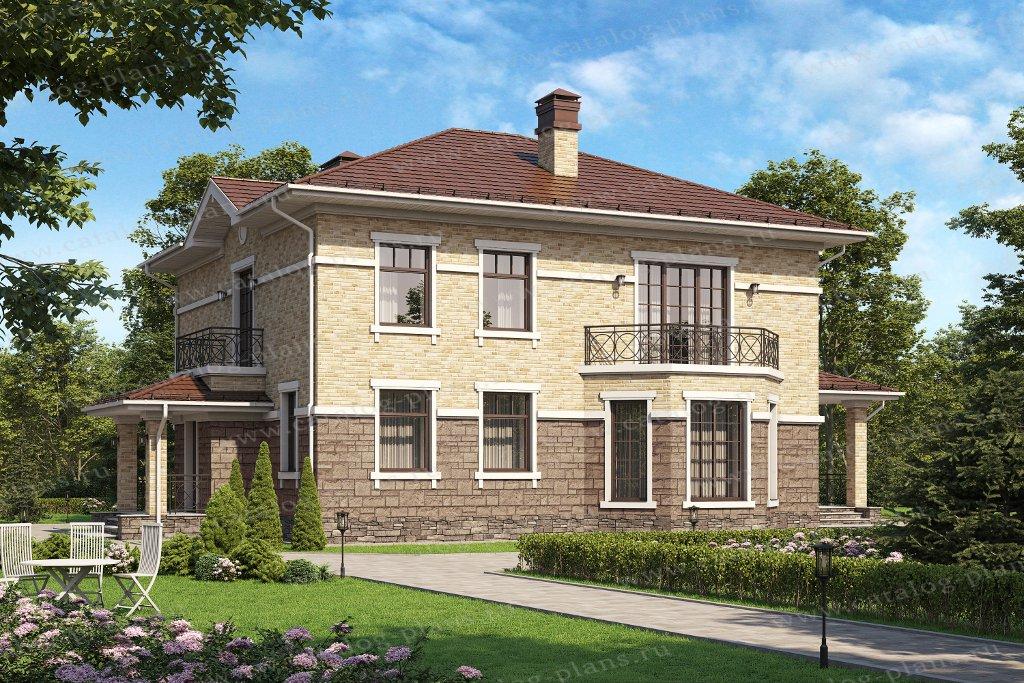 Проект жилой дом #62-17L материал - газобетон, стиль