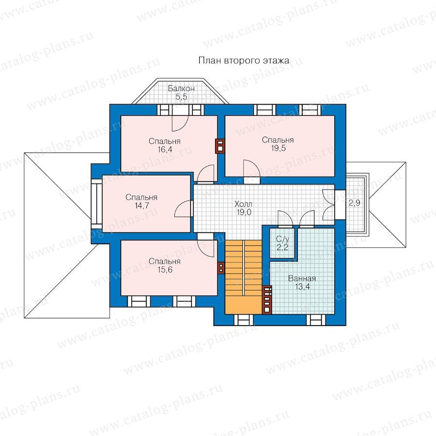 План 2-этажа проекта 62-17L