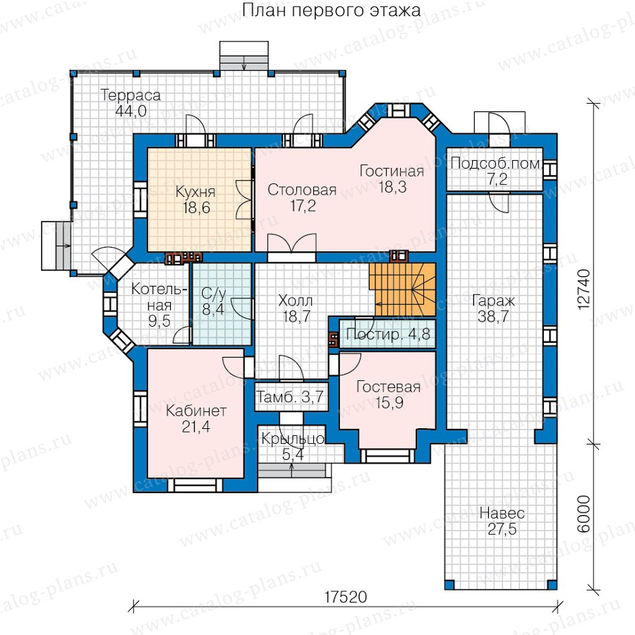 План 1-этажа проекта 45-06L