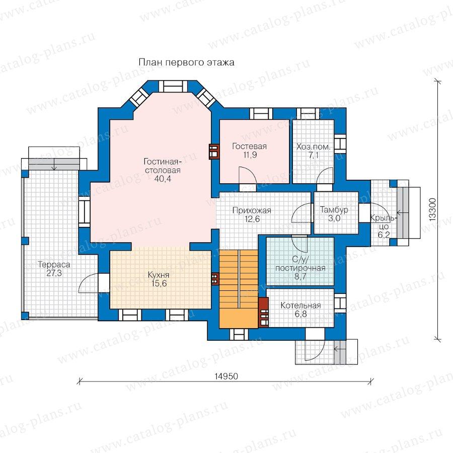 План 1-этажа проекта 62-17L