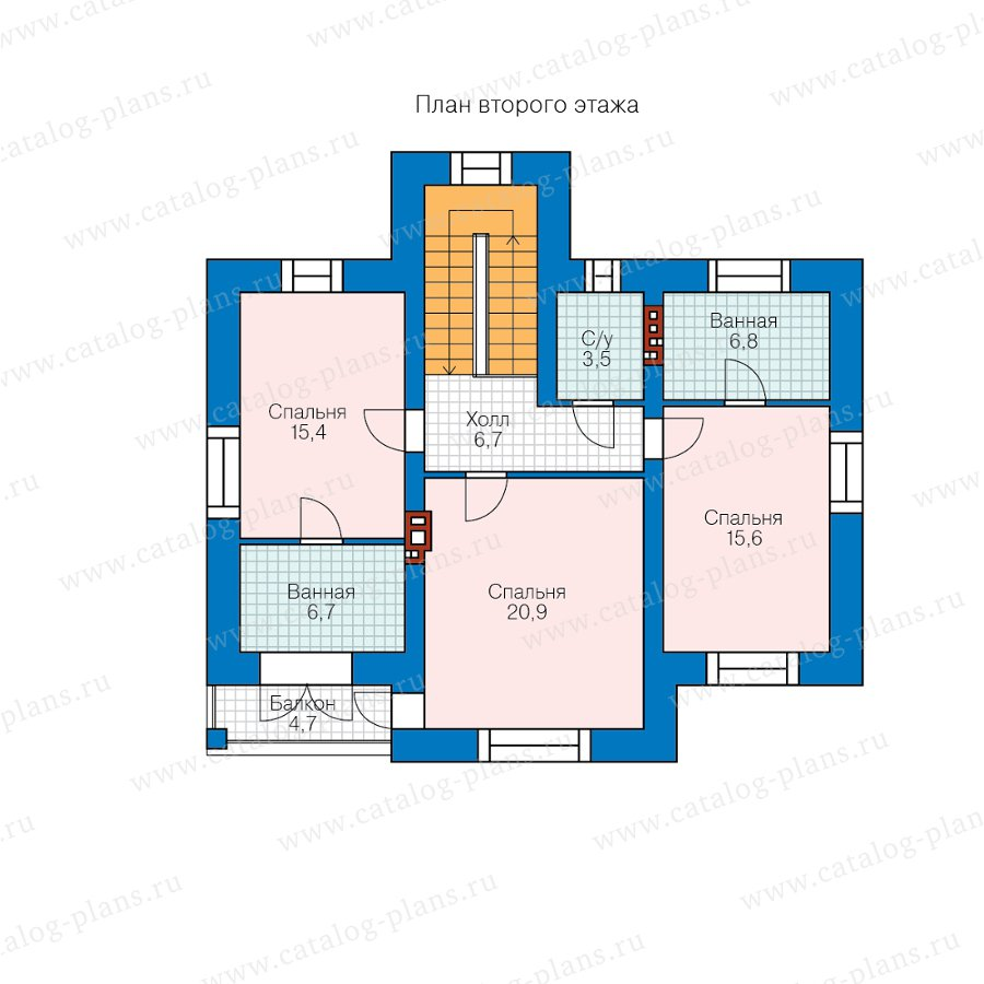 План 2-этажа проекта 45-09