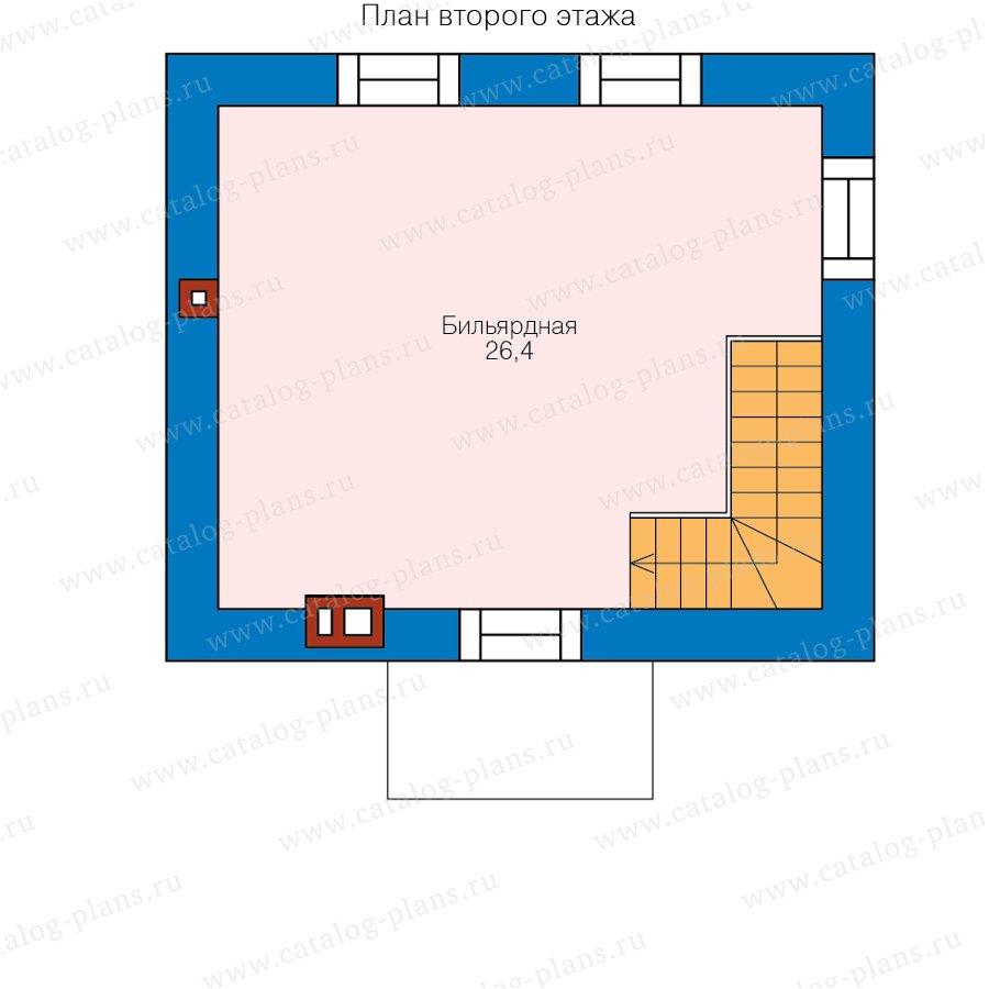 План 2-этажа проекта 90-59L