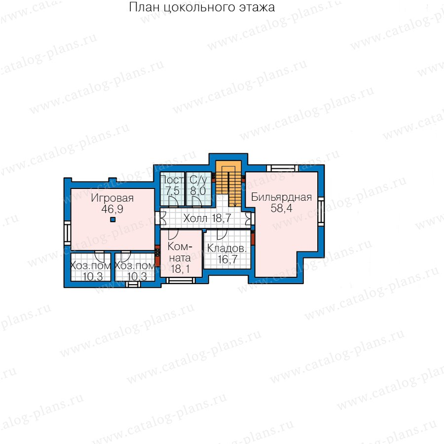План 1-этажа проекта 40-86BL