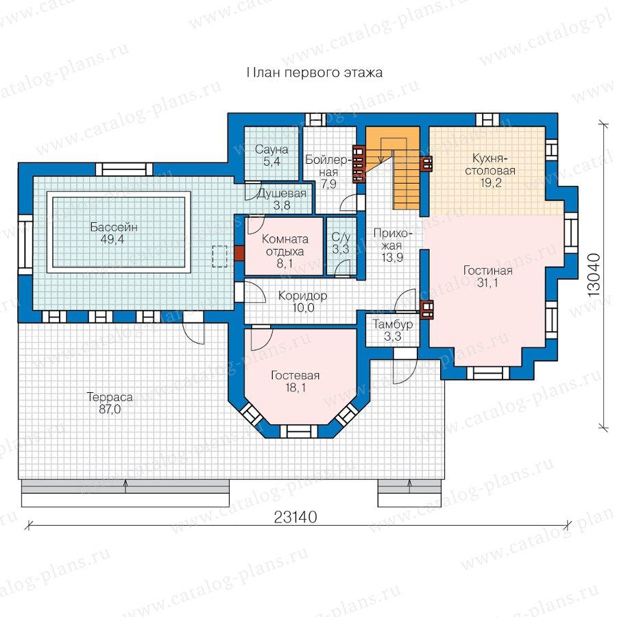 План 1-этажа проекта 48-29QL
