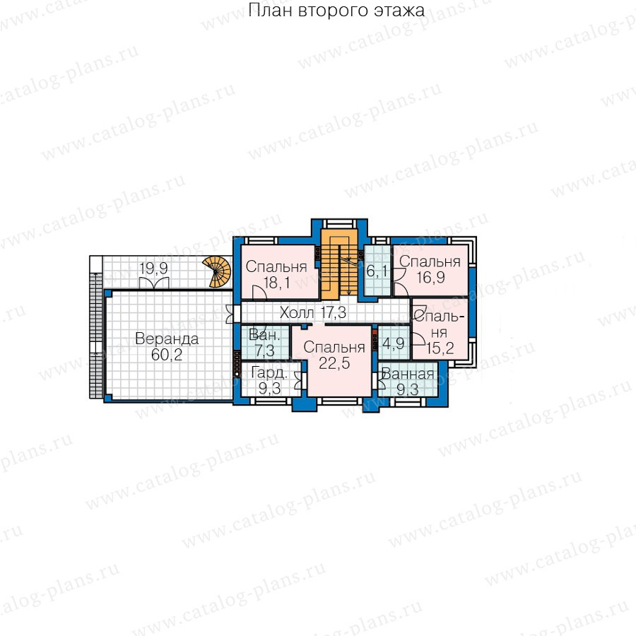 План 3-этажа проекта 40-86BL