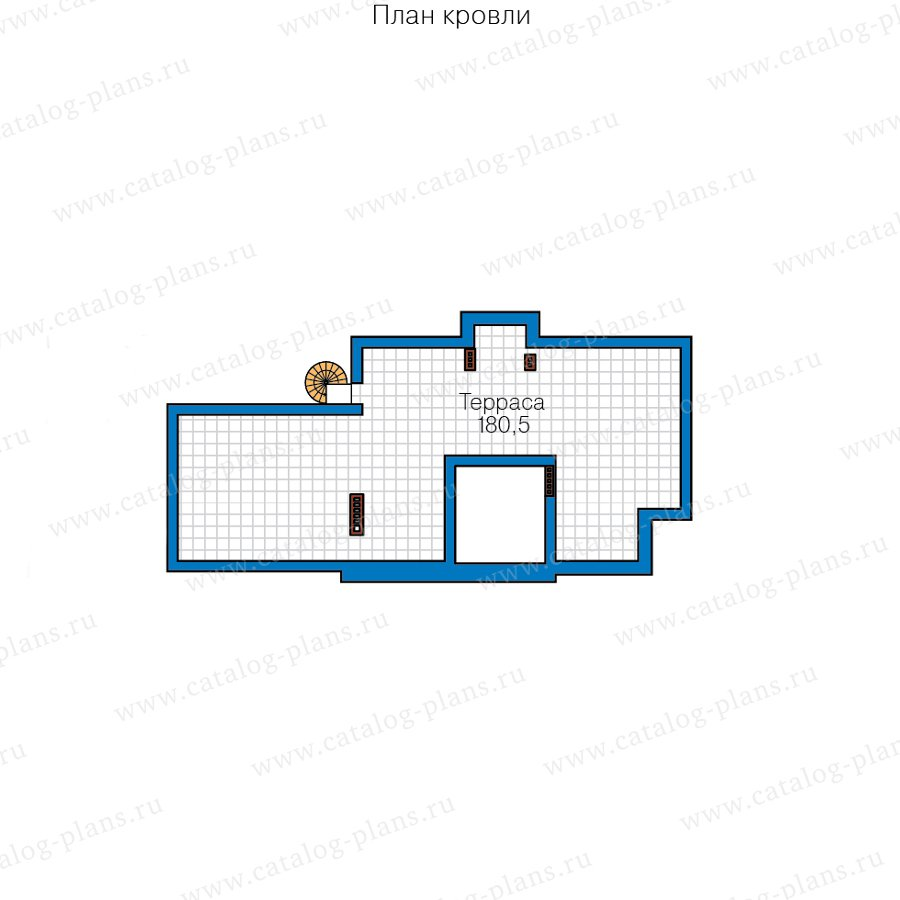 План 4-этажа проекта 40-86BL