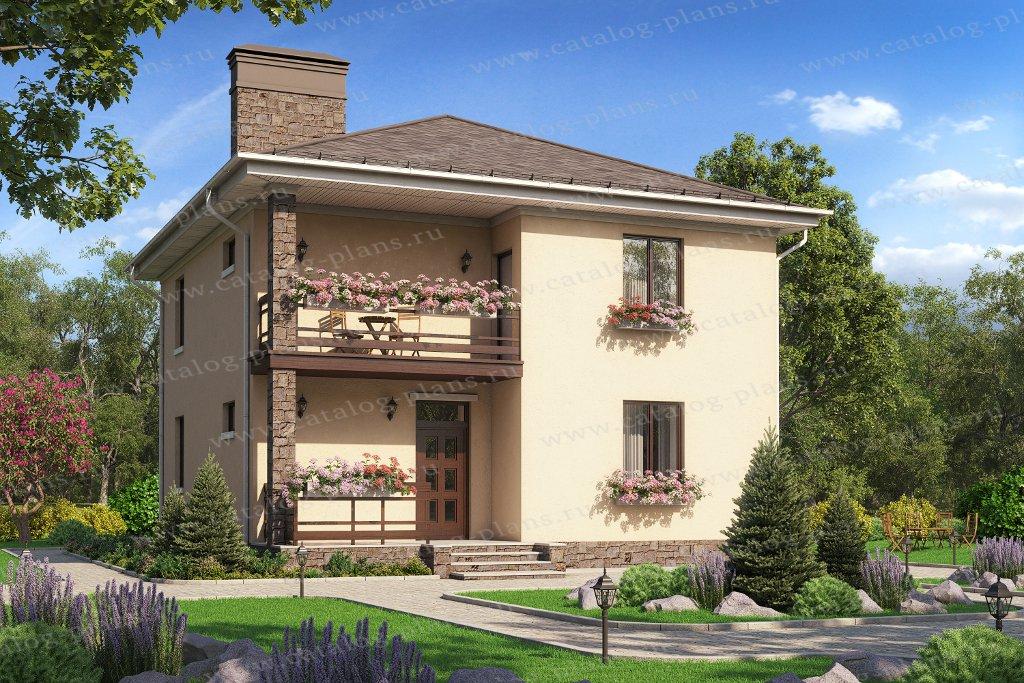 Проект жилой дом #57-07F материал - газобетон, стиль современный