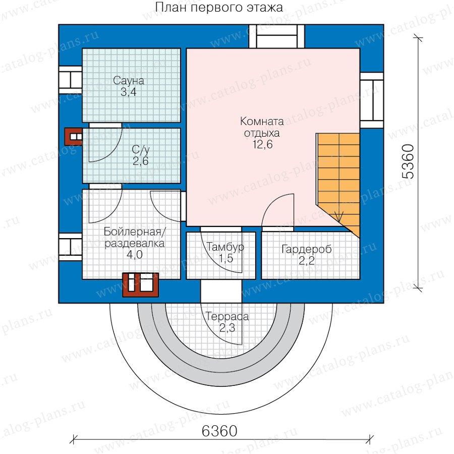 План 1-этажа проекта 90-59L