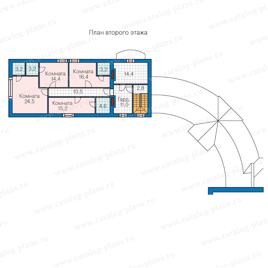 План 2-этажа проекта 47-88
