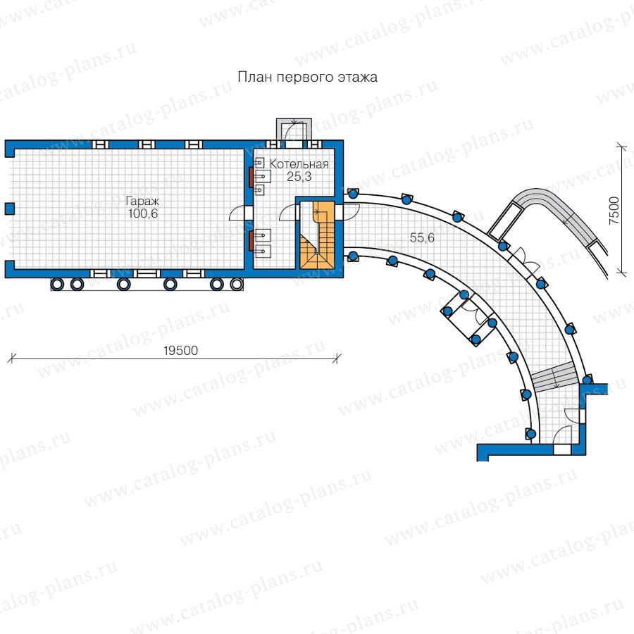 План 1-этажа проекта 47-88
