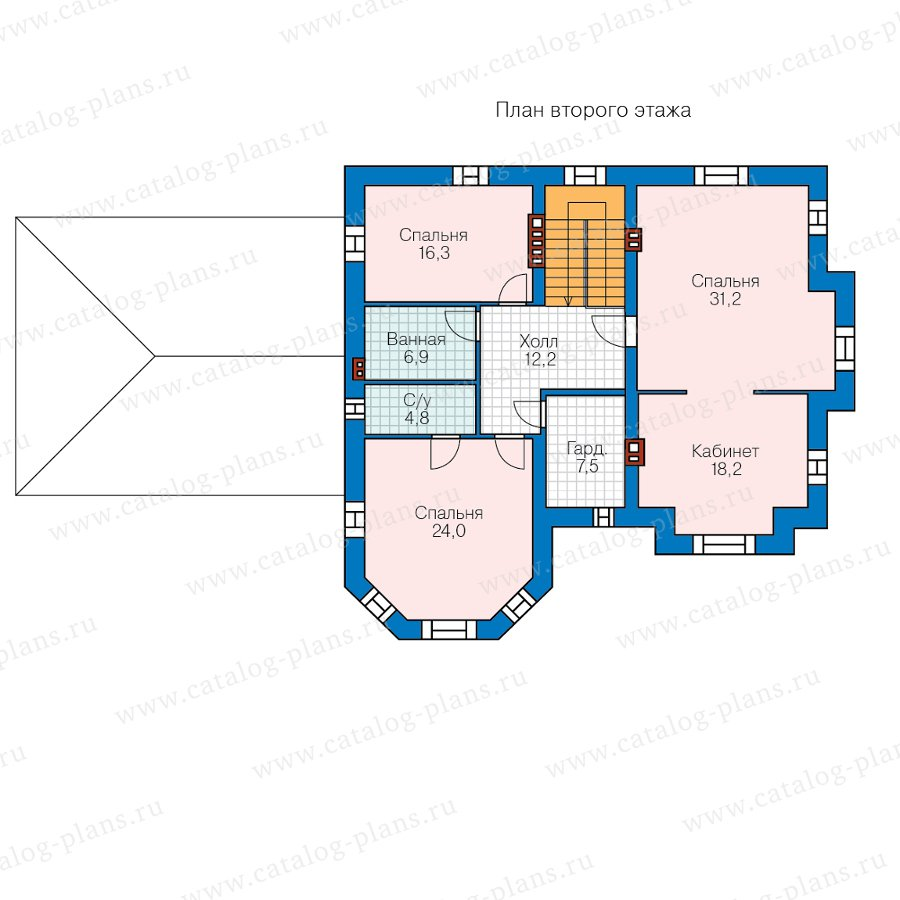 План 2-этажа проекта 48-29QL