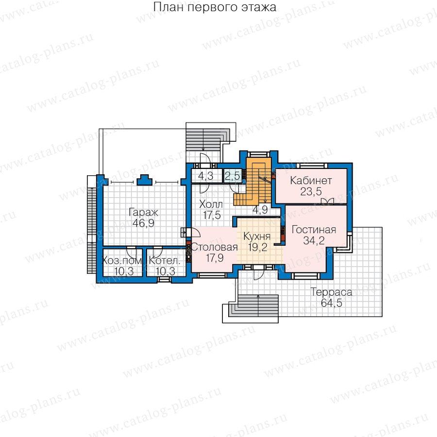 План 2-этажа проекта 40-86BL