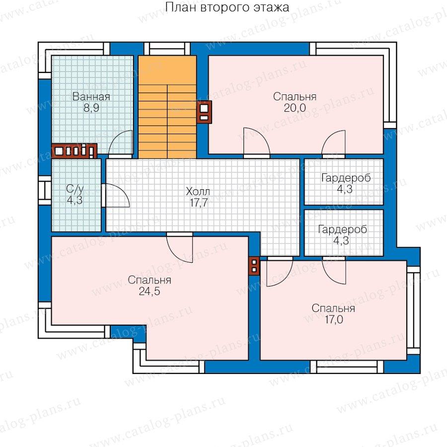 План 2-этажа проекта 62-24