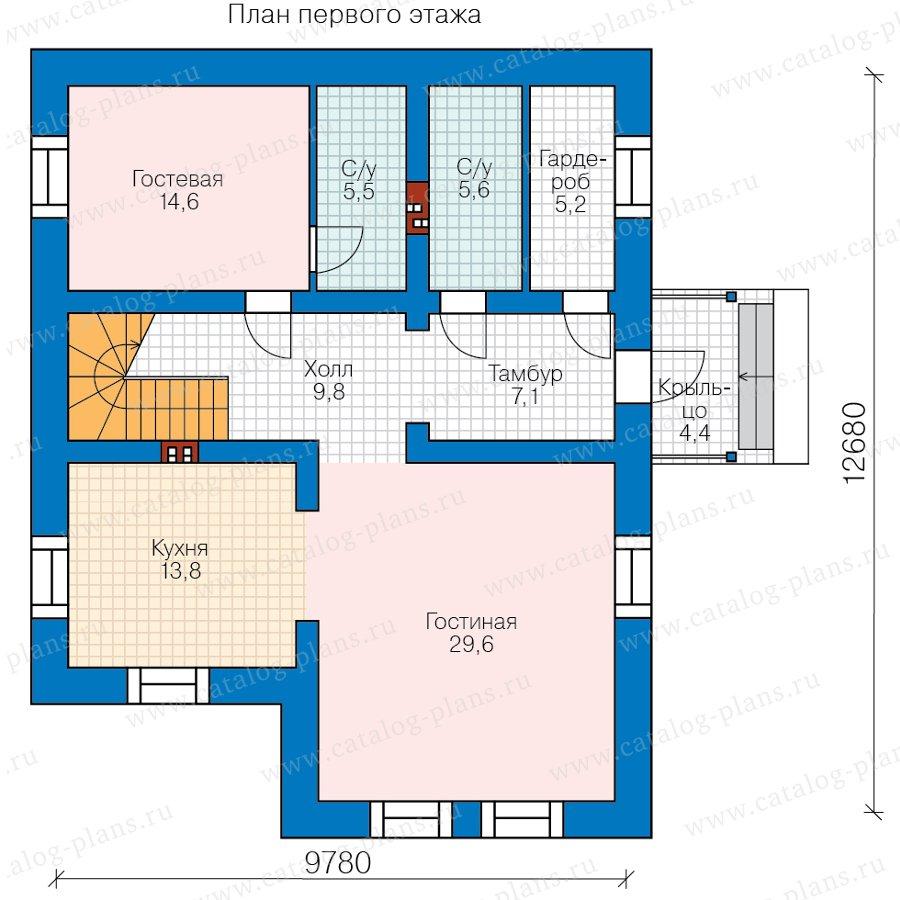 План 1-этажа проекта 58-22KDL1