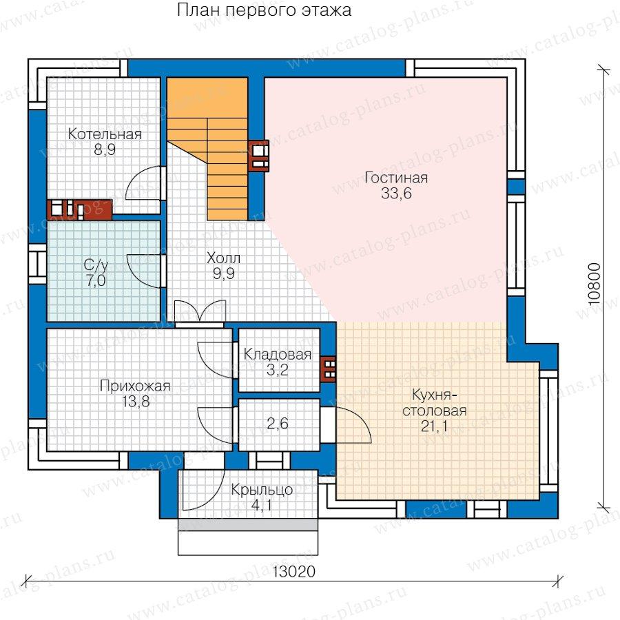 План 1-этажа проекта 62-24