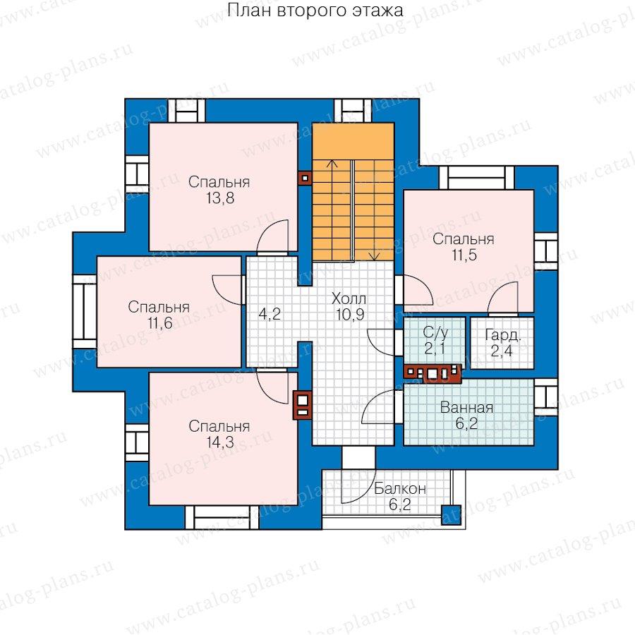 План 2-этажа проекта 45-17