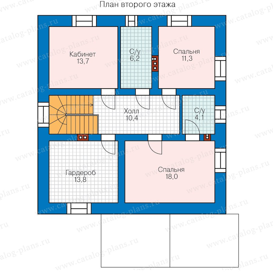 План 2-этажа проекта 58-22KDL1