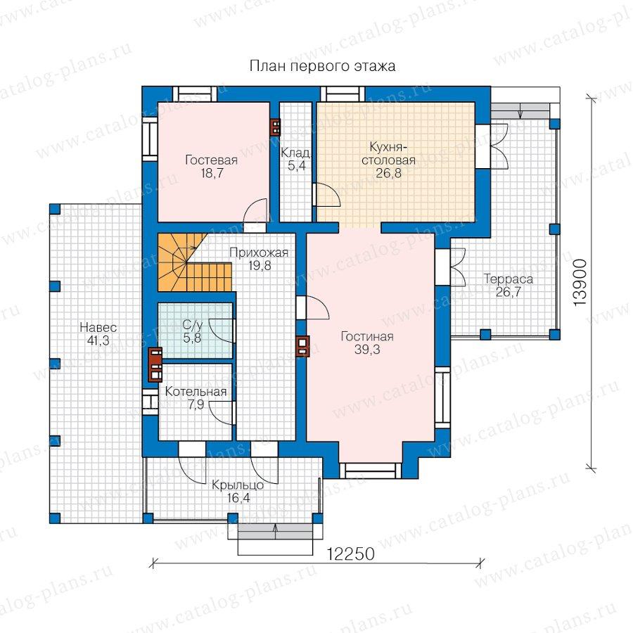 План 1-этажа проекта 57-39PL