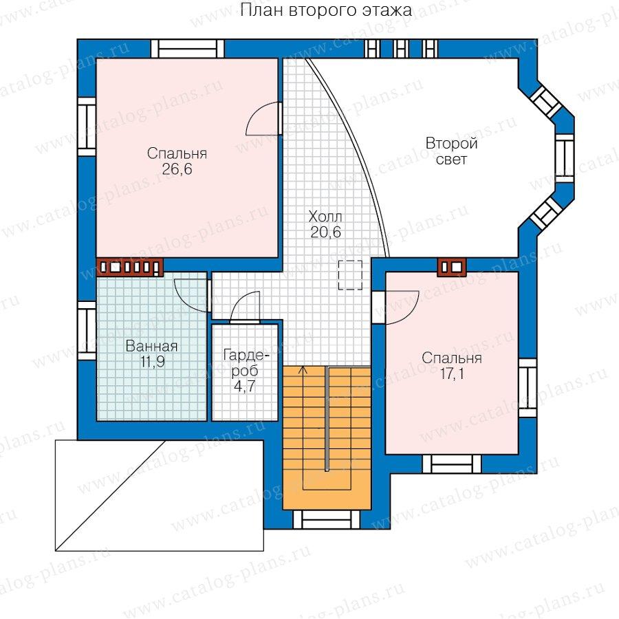 План 2-этажа проекта 58-78ВК