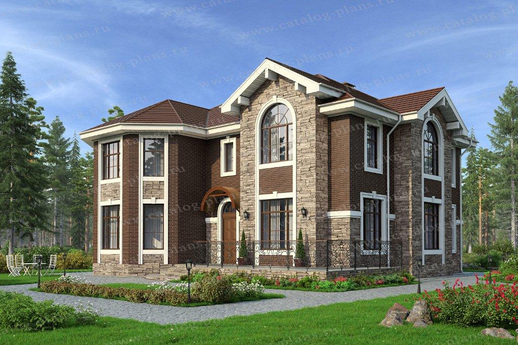Проект жилой дом #40-11G2L материал - газобетон, стиль европейский