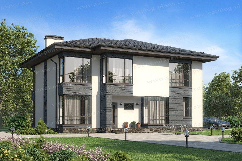 Проект жилой дом #62-24 материал - газобетон, стиль