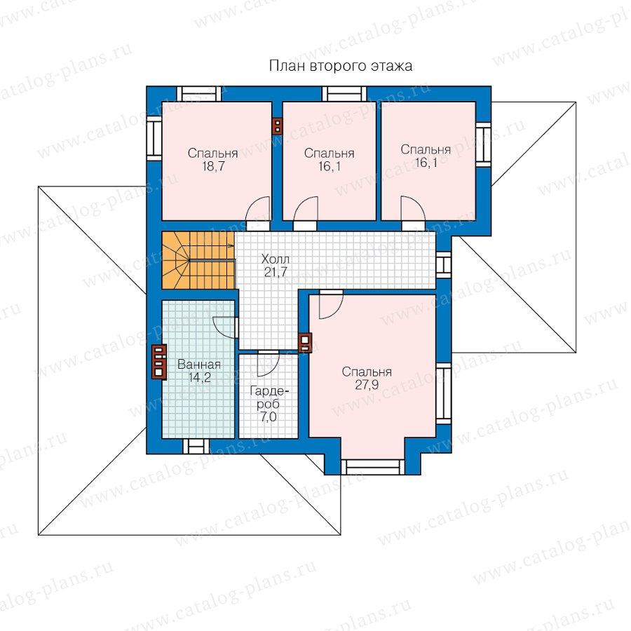 План 2-этажа проекта 57-39PL