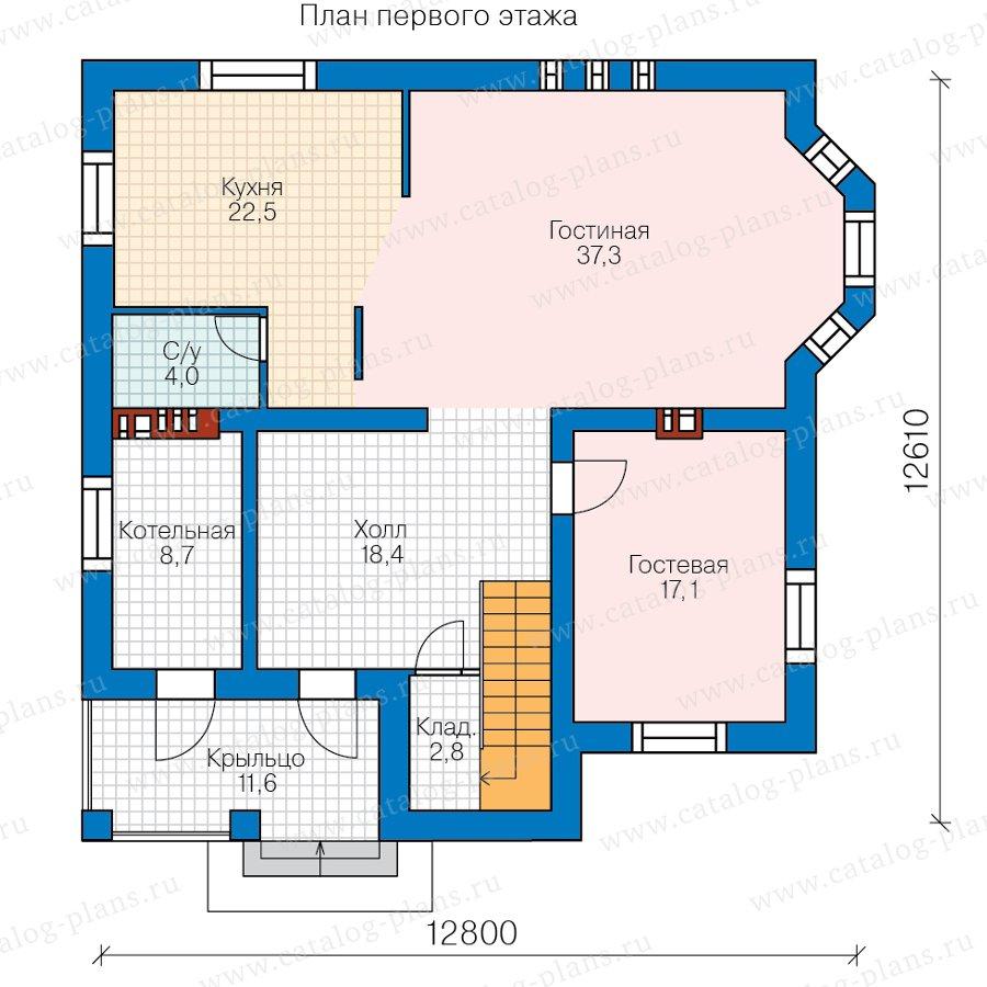 План 1-этажа проекта 58-78ВК
