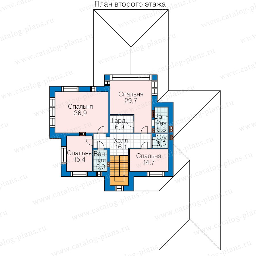 План 2-этажа проекта 45-04