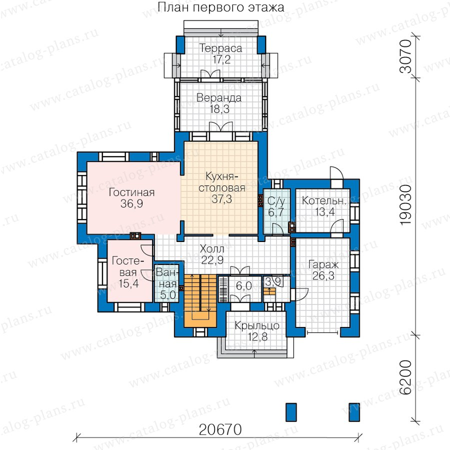 План 1-этажа проекта 45-04