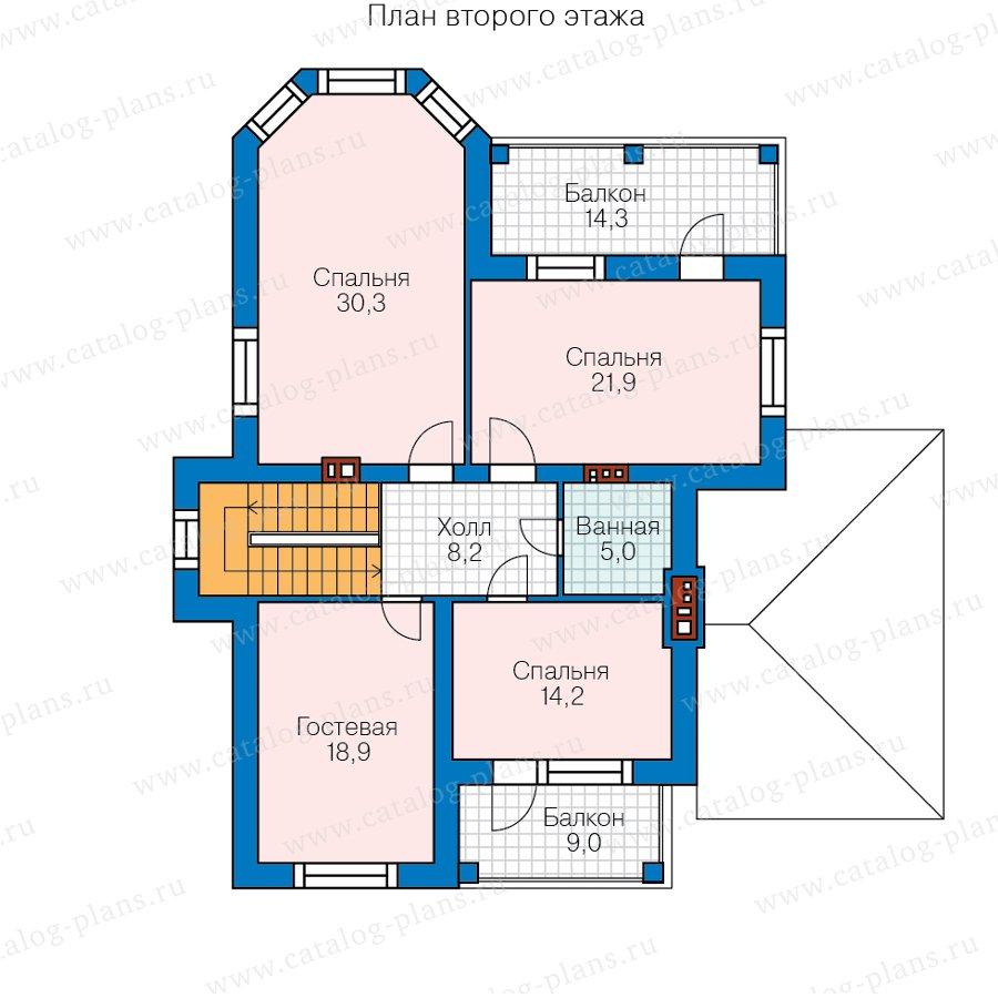 План 2-этажа проекта 45-10
