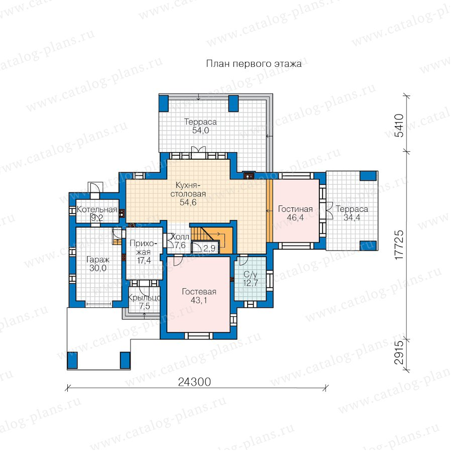 План 1-этажа проекта 45-05L