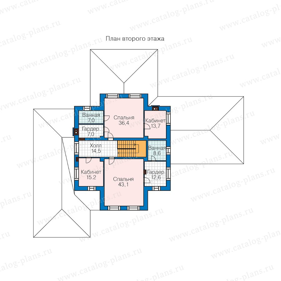 План 2-этажа проекта 45-05L