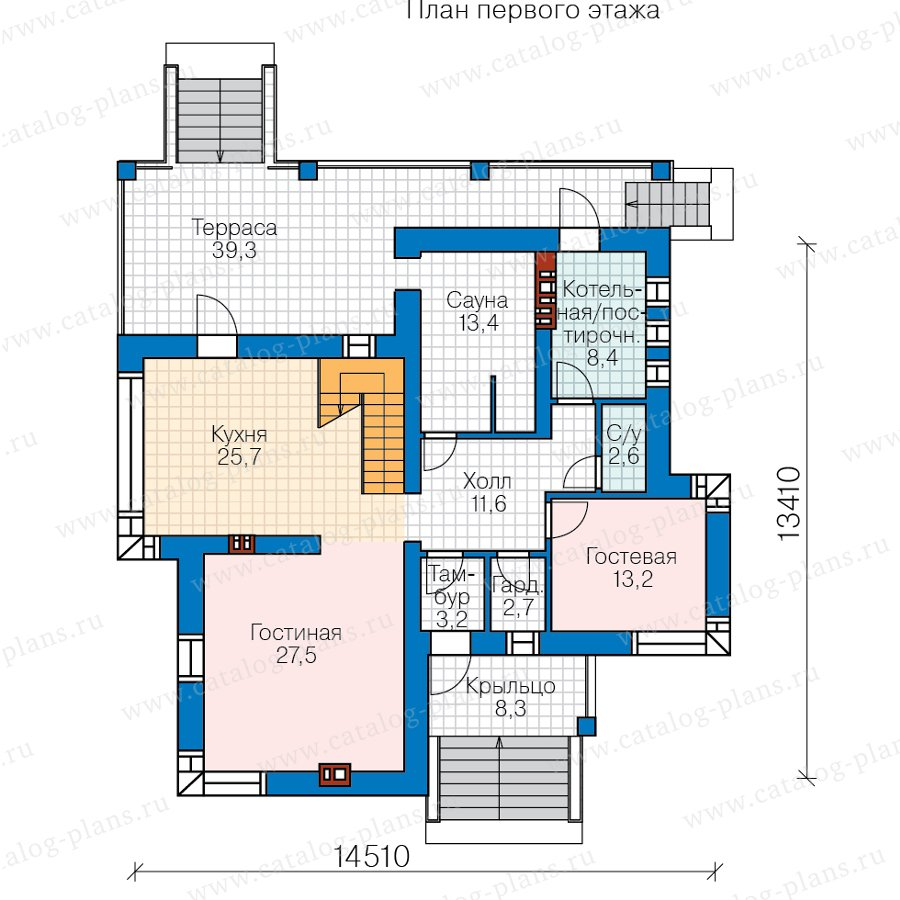 План 1-этажа проекта 57-21AKL1