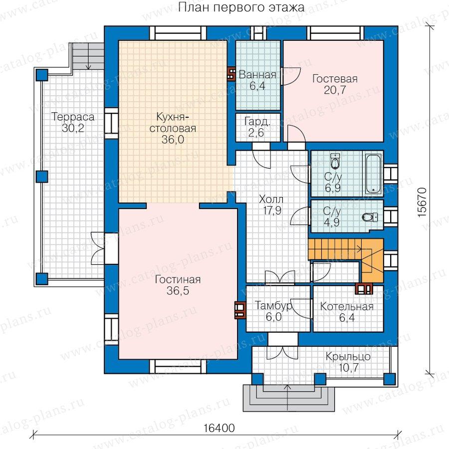 План 1-этажа проекта 45-11L