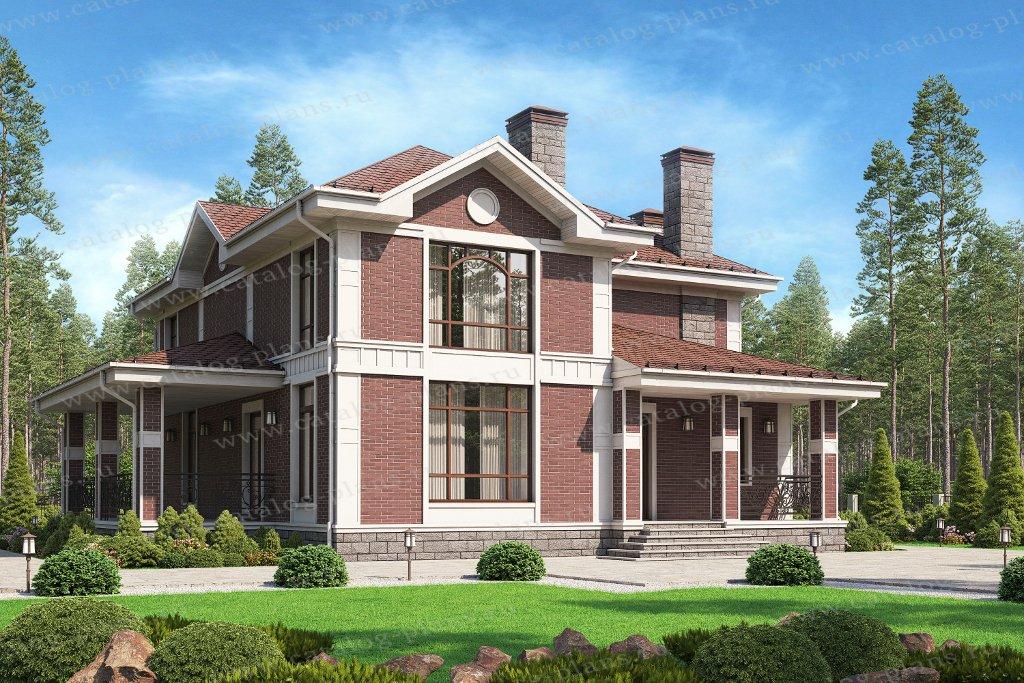 Проект жилой дом #45-11L материал - кирпич, стиль европейский