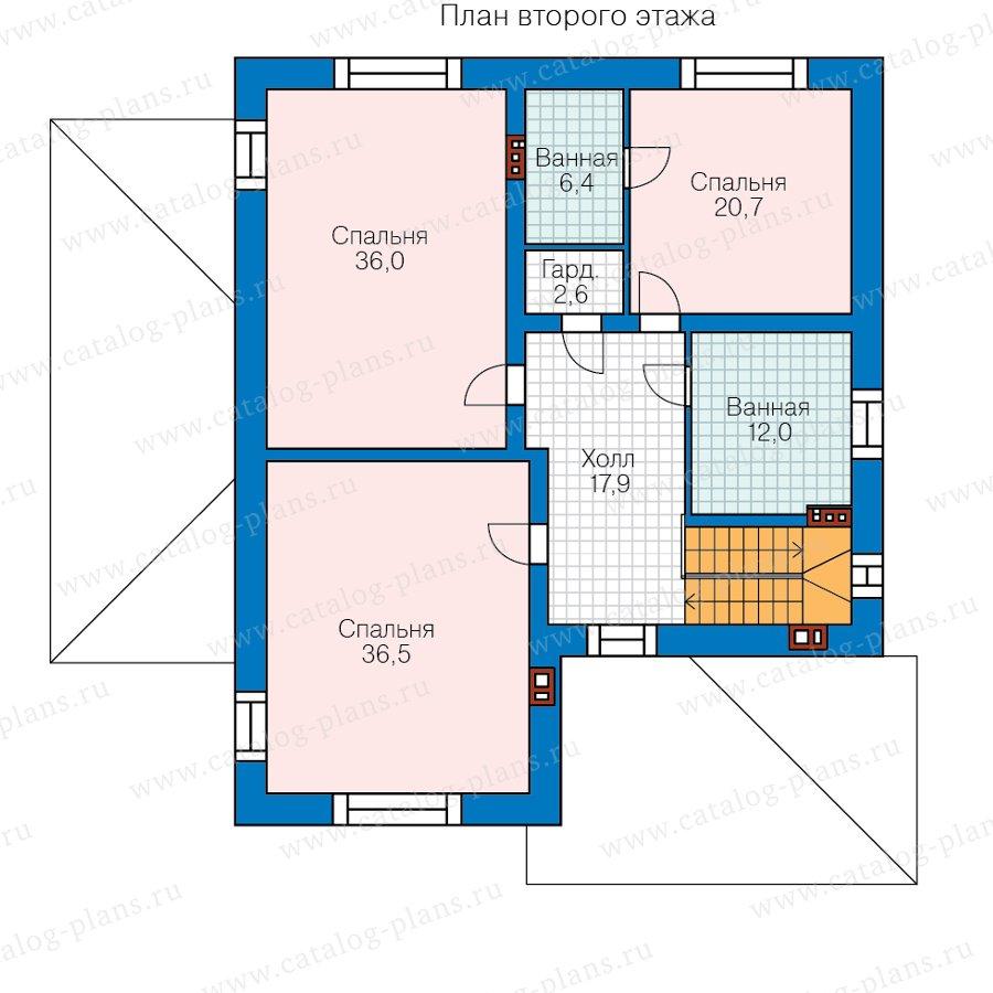 План 2-этажа проекта 45-11L