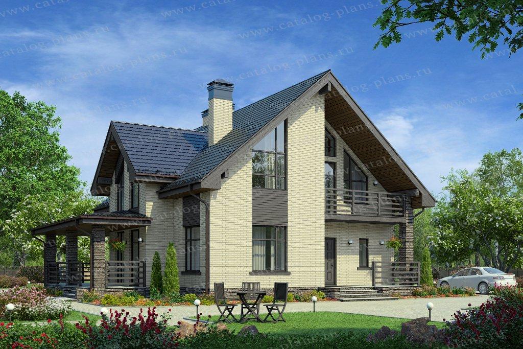 Проект жилой дом #57-00FL материал - газобетон, стиль современный
