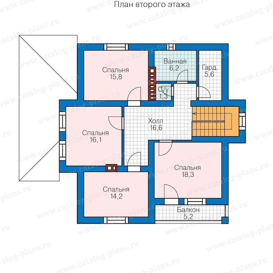 План 2-этажа проекта 57-00FL
