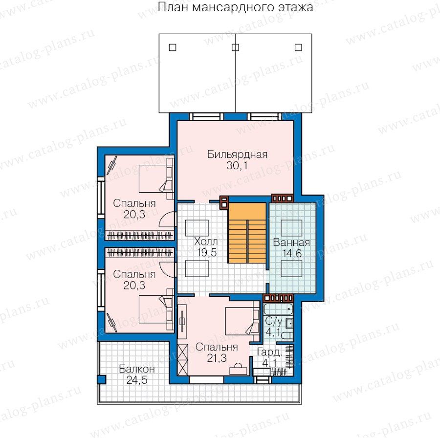 План 2-этажа проекта 62-23
