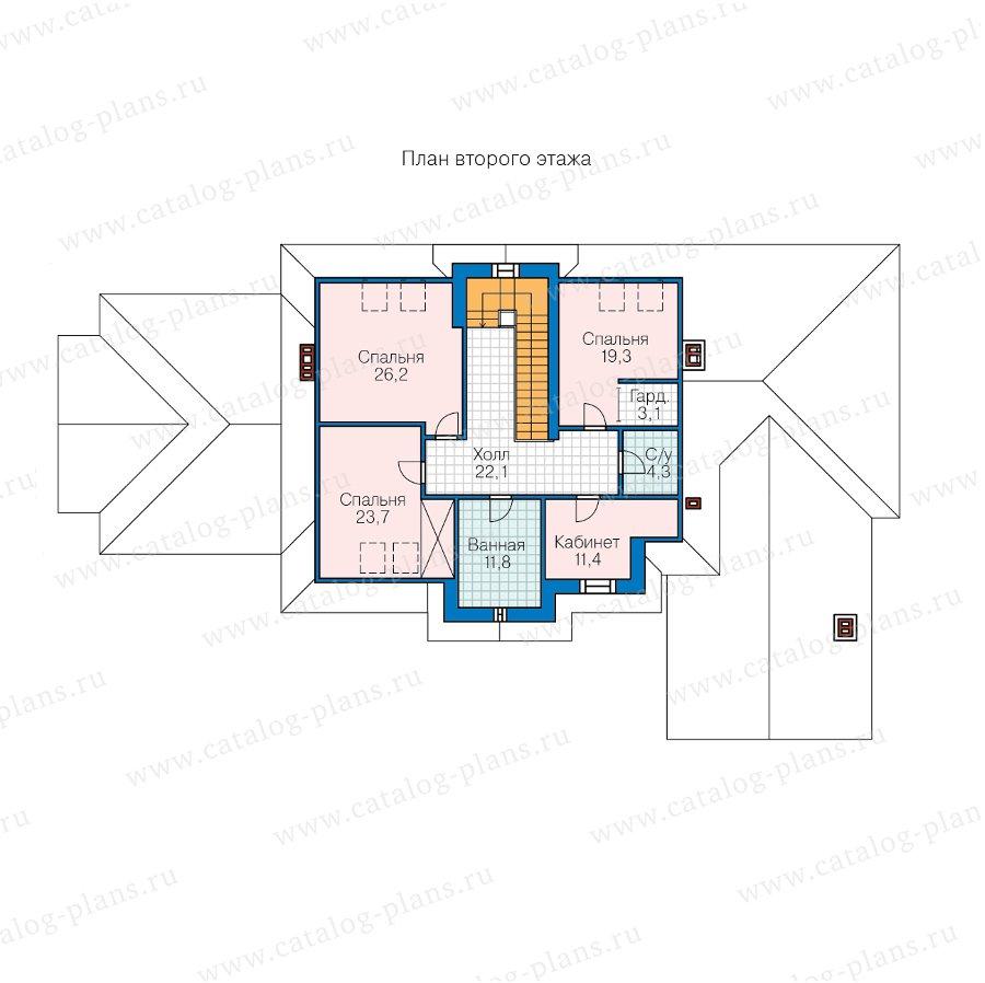 План 2-этажа проекта 45-19