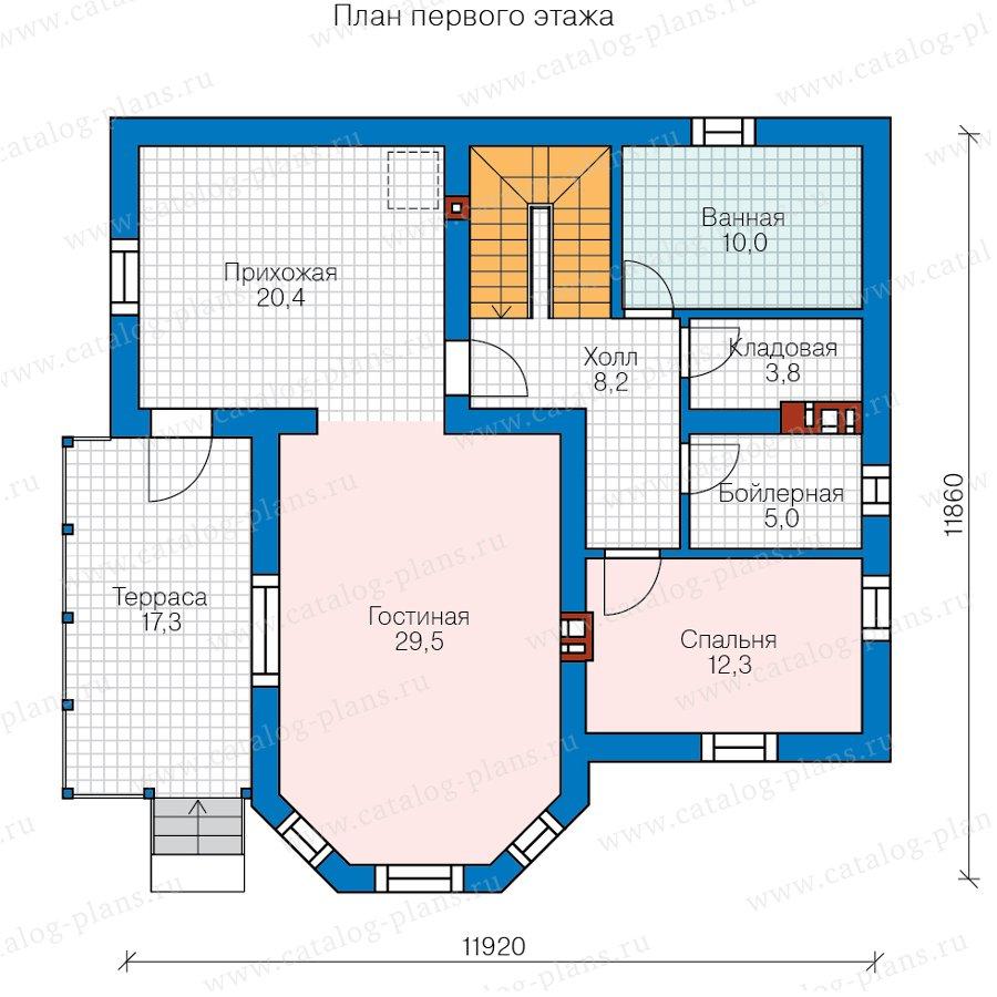План 2-этажа проекта 40-05DG