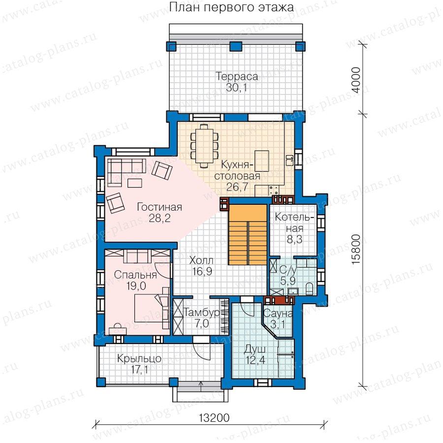 План 1-этажа проекта 62-23