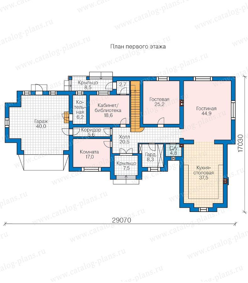 План 1-этажа проекта 45-19