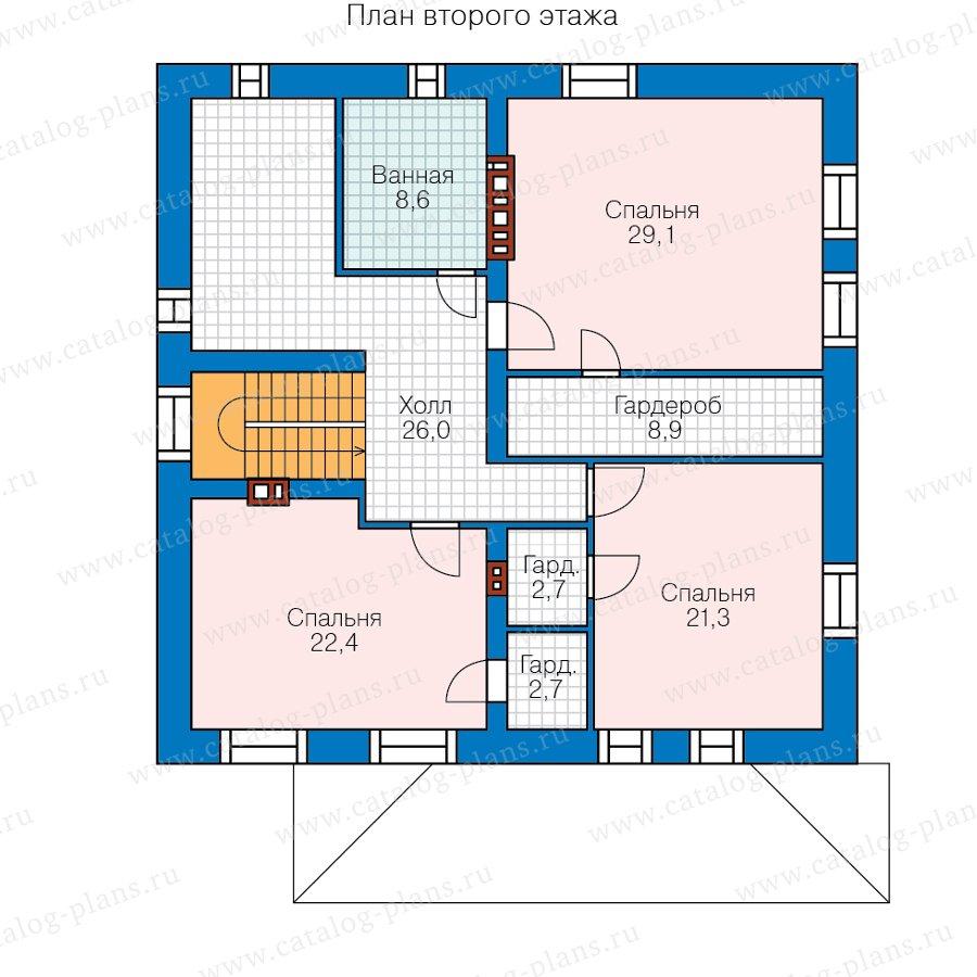 План 2-этажа проекта 58-19AKL1