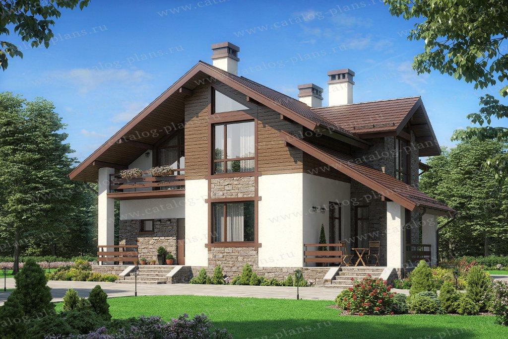 Проект жилой дом #62-20 материал - газобетон, стиль