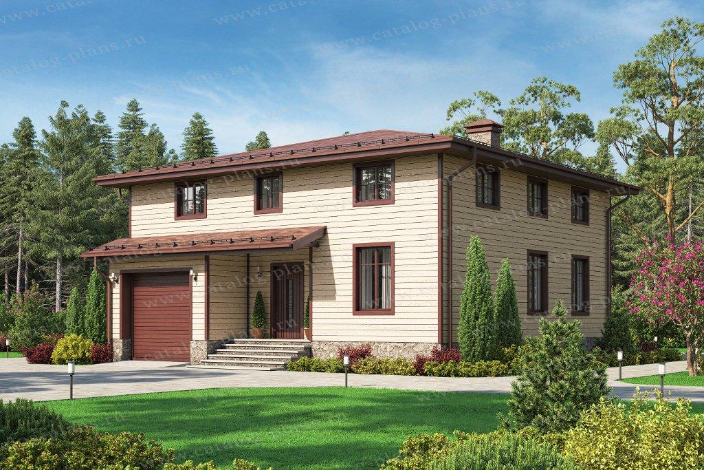 Проект жилой дом #70-88 материал - каркас, стиль