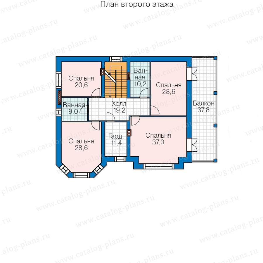 План 3-этажа проекта 40-38AL