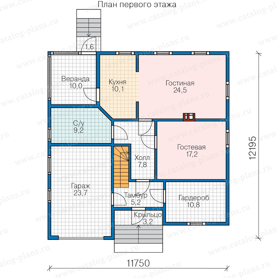 План 1-этажа проекта 70-88