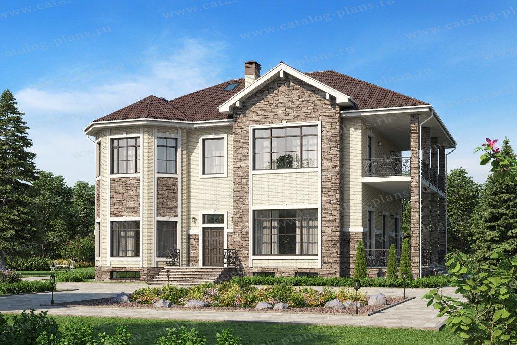 Проект жилой дом #40-38AL материал - кирпич, стиль